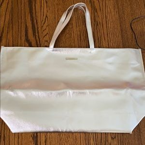 Clinique Metallic Silver Tote Bag
